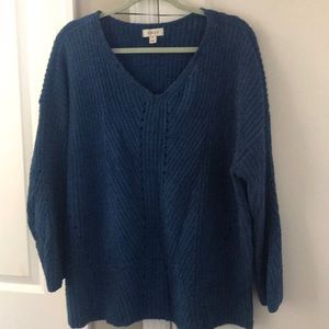 Style & Co. Chenille V-Neck Sweater